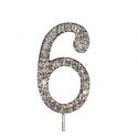 "Nummer 6 ""diamante"", 45 mm Hoch"