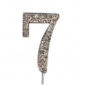 "Number 7 ""diamante"", 45 mm high"