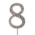 "Number 8 ""diamante"", 45 mm high"