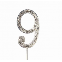 "Number 9 ""diamante"", 45 mm high"