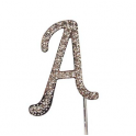 "Letter A ""diamante"", 45 mm high"
