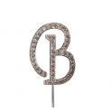"""Buchstaben B """"diamante"""", 45 mm Hoch"""