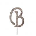 Lettre B avec brillants, 45 mm de haut