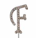 "Letter F ""diamante"", 45 mm high"