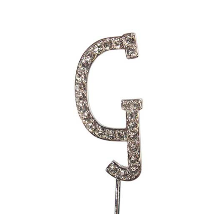 Lettre G avec brillants, 45 mm de haut