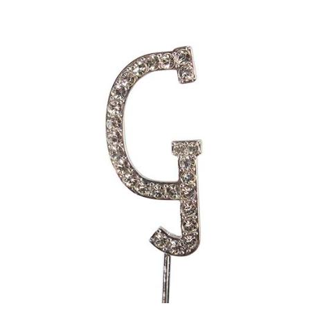 "Letter G ""diamante"", 45 mm high"