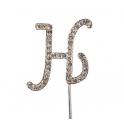 Lettre H avec brillants, 45 mm de haut