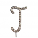"Letter J ""diamante"", 45 mm high"