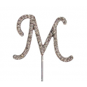 "Letter M ""diamante"", 45 mm high"