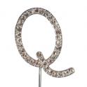 Lettre Q avec brillants, 45 mm de haut