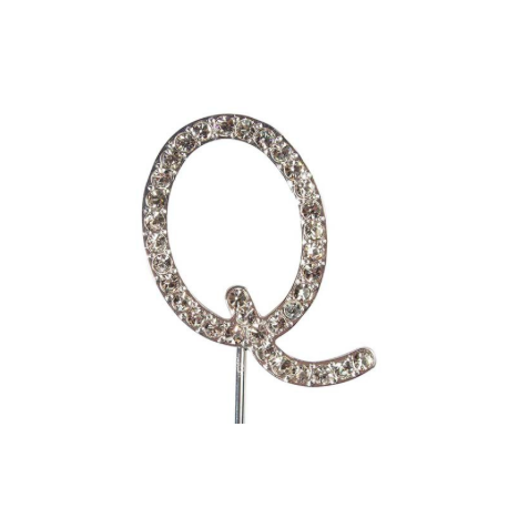 "Letter Q ""diamante"", 45 mm high"