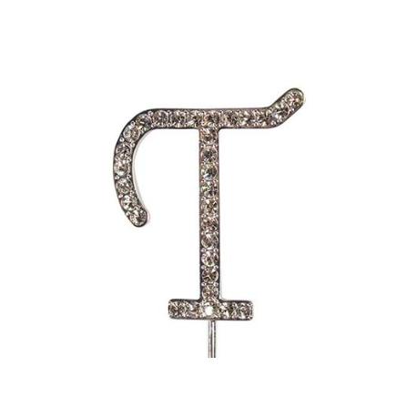 Lettre T avec brillants, 45 mm de haut