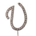 """Buchstaben U """"diamante"""", 45 mm Hoch"""