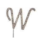 Lettre W avec brillants, 45 mm de haut