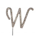"Letter W ""diamante"", 45 mm high"