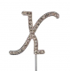 "Letter X ""diamante"", 45 mm high"