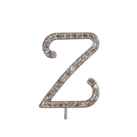 Lettre Z avec brillants, 45 mm de haut