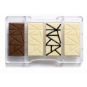 "Decora - Plastic mold for mini ""geo"" chocolate bar,  4 cavities of 40x85 mm"