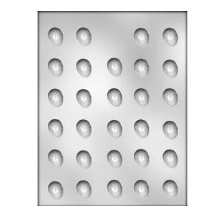 CK - Moule en plastique rigide pour chocolat oeufs (mini), 29 cavités