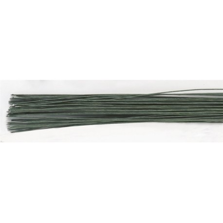Culpitt - Green paper covered wire for flowers, 26 Gauge, 38 cm, 50 pieces