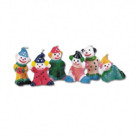 Clowns candles, set of 6