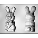 CK - Plastic mold for chocolate bunny with carotte, 2 cavities