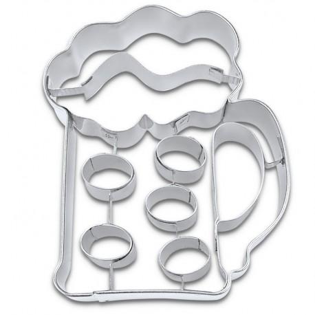Cookies cutter beer in mug, 7 cm