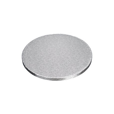 Cake Board round silver cm 50 diameter, 12 mm thick