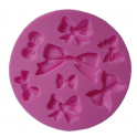 Silicone fondant mold bows, 8 cavities