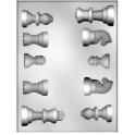 CK - Moule en plastique rigide pour chocolat échecs, 10 cavités
