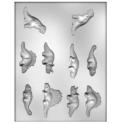 CK - Moule en plastique rigide pour chocolat dinosaure, 10 cavités
