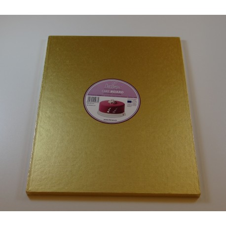 Rectangular Cake Board gold, cm 35 x 45, 12 mm thick