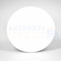 Planche blanche en carton ronde, diamètre 25 cm, 1mm