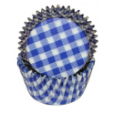 Gingham blue Baking Cupcake cups,  40 pieces