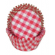 Gingham red Baking Cupcake cups,  40 pieces