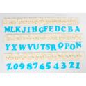 FMM Emporte-pièce Alphabet majuscule et numéros ART DECO, 2 cm