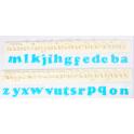 FMM Emporte-pièce Alphabet minuscules ART DECO, 1.5 cm
