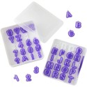 Wilton - Emporte-pièce alphabet et nombres, 40 pièces + boîte