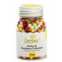 Decora perles en sucre mix de couleur, 4 mm, 100 g