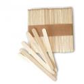 Silikomart - Bâtonnets à glace en bois, mini, 72 mm, 100 pièces