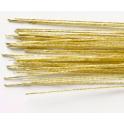 Culpitt - Tiges doré métallisé pour fleurs 36 cm, calibre 24, 50 pièces
