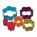Colourworks - Emporte-pièce fleur en plastique, 6 pièces