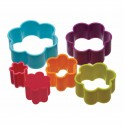 Colourworks - Flower cookie cutters plastic, 6 pieces