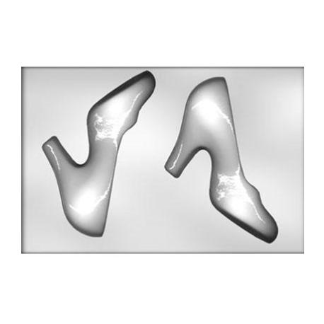 CK - Moule en plastique rigide pour chocolat chaussure à talon, 2 cavités