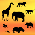 Patchwork Safari silhouettes, set of 8