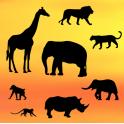Patchwork silhouette safari,  set de 8 pièces