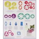 Ausstechformen und Ausdrücker für Pastillage Blumen, 28 Stück
