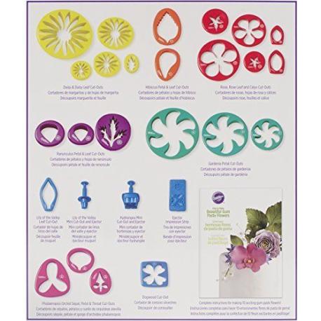 Ausstechformen und Ausdrücker für Pastillage Blumen, 28 Stück ...