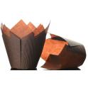 Tulip Muffin Case brown, 50 pieces