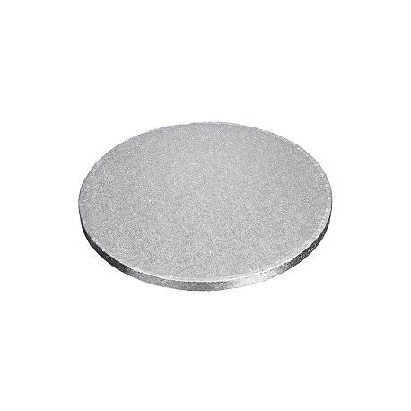 Planche argentée ronde, dia. 26 cm, épaisseur 1.2 cm